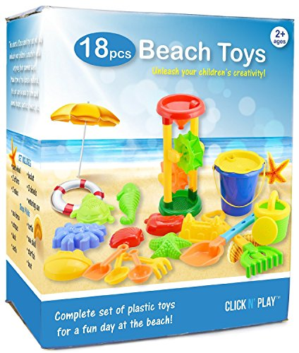 Click N Play 18 Piece Beach sand Toy Set