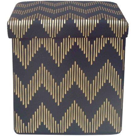 Simpli Home Cosmopolitan Faux Leather Rectangular Storage