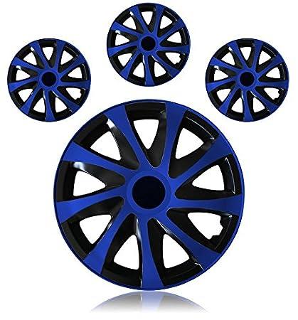 Tapacubos - Tapacubos Tapacubos DRACO bicolor azul 16 16 pulgadas ...