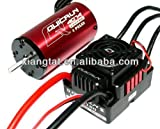 LPZ HOBBYWING QUICRUN 4074SL 2000KV Sensorless Brushless Motor & QUICRUN WP8BL150 WP 150A ESC & LED Program Card for 1/8