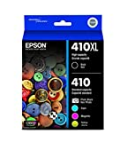 Epson 410XL Black & Standard Photo Black and C/M/Y Color Ink Cartridges, ...