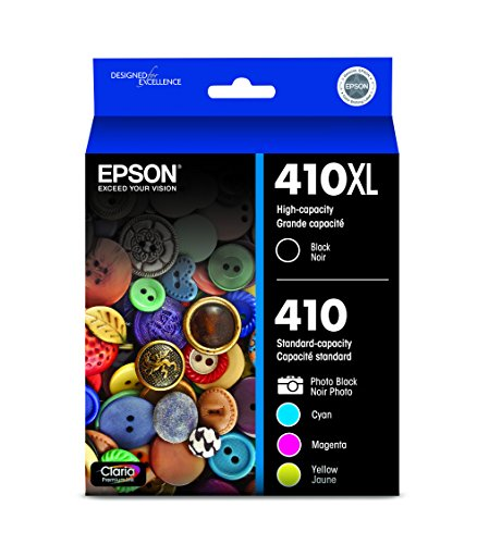 Epson 410XL Black amp Standard Photo Black and C/M/Y Color Ink Cartridges Combo 5 Pack T410XLBCS