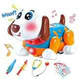 electronic doctor - Electronic Pets Dog Doctor Veterinarian Kit for Boys and Girls 2,3,4 Years Old Birthday Gift Interactive and Educational Pretend Play Toy with Dance, Music & Barking