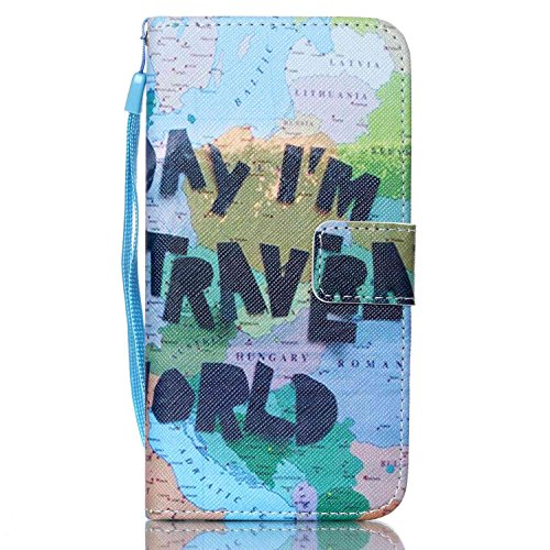S6 Edge Case, Galaxy S6 Edge Case,SAVYOU Wallet Kickstand Flip Case with Card Slots and Note Holder for Samsung Galaxy S6 Edge (Patten8)