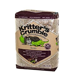 Kritter\'s Crumble All Natural Coconut Husk Fiber Reptile Substrate and Small Animal Bedding - Coarse, 21 quarts