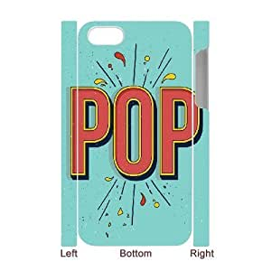 3D Bloomingbluerose Typography IPhone 4/4s Cases POP Typography, [White]