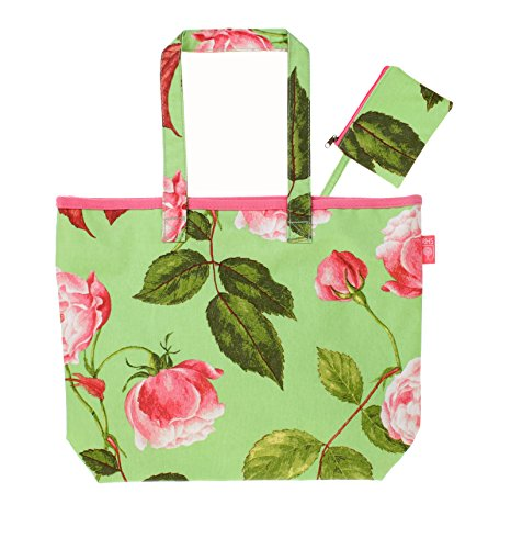 Ulster Weavers RHS 33 x 25,4 cm design rosa shopper in tela cerata e borsa