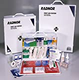 Radnor 64058047 White and Black Steel Portable Or Wall Mounted 200 Person 4 Shelf Industrial First Aid Kit, English, 15.34 fl. oz., Plastic, 1 x 1 x 1