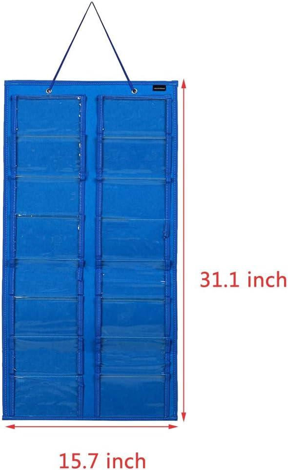 YELAIYEHAO Sunglasses Organizer Storage,Wall Pocket by Sunglasses Blue, dustproof Large