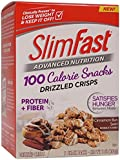 Slim Fast Advanced Nutrition 100 Calorie Snacks, Drizzled Crisps, Cinnamon Bun Swirl, 1oz 5 Bags, 2 Count