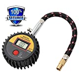 Digital Tire Pressure Gauge, Seantter Reliable and Accurate Air Pressure Gauge with Large Lcd Display and Braided Hose