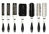 Scalpmaster Ceramic Brush Set In Carrying Case, 7 Pieces