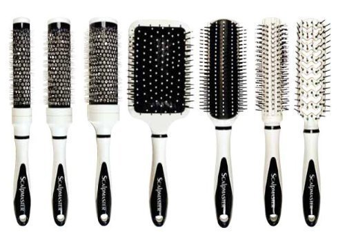 - Scalpmaster Ceramic Brush Set In Carrying Case, 7 Pieces