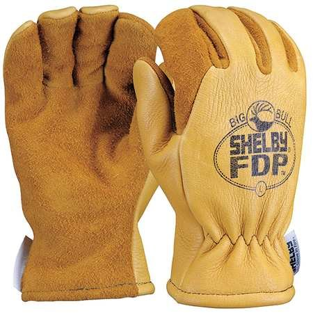 Firefighters Gloves, L, Lthr, PR by Shelby (Image #1)