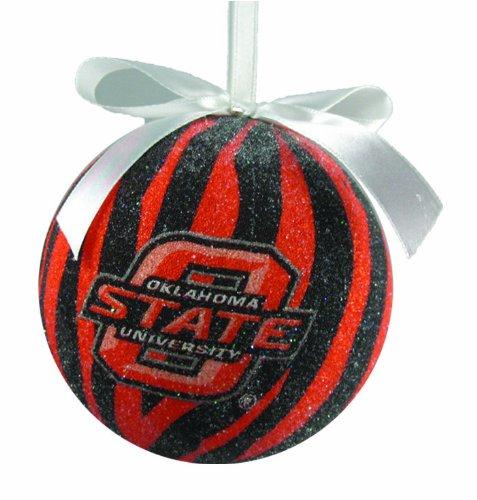 NCAA Oklahoma State Cowboys Zebra Stripe Ball Christmas - Ball Ornament Stripe