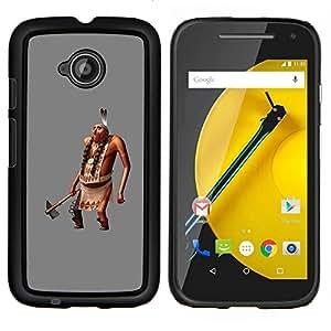 EJOOY---Cubierta de la caja de protección para la piel dura ** Motorola Moto E2 E2nd Gen ** --Plumas Hombre Figurita 3D Ax