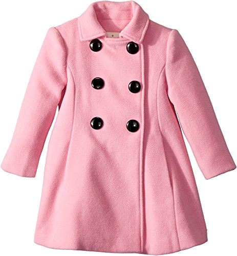 Kate Spade New York Kids Baby Girl's Bow Back Coat (Toddler/Little Kids) Parisian Pink 2T by Kate Spade New York
