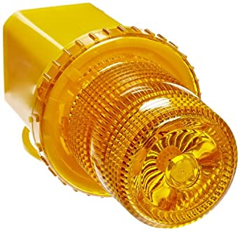 """Jackson Safety 17378 Rotating Strobe With Magnetic Base and Plugs Into Lighter, 4-3/4"""" Base Diameter x 7-1/4"""" Height, Amber"""