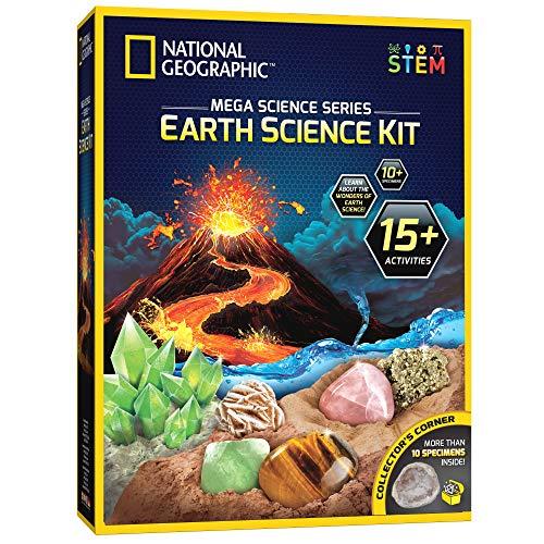 [해외]NATIONAL GEOGRAPHIC Earth Science Kit - 15개 이상의 과학 실험과 활동을 가진 메가 과학 연구소 아이들에게 지구의 경이로움을 가르치고 당신의 젊은 과학자를 위한 훌륭한 키트 / NATIONAL GEOGRAPHIC Earth Science Kit - 15개 이상의 과학 실...