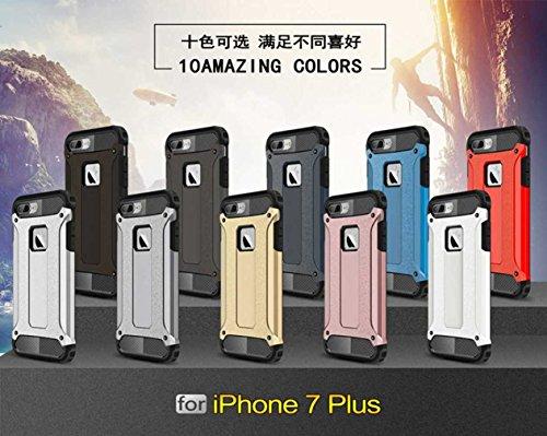 """5.5"""" iPhone 7 Plus Coque, AOFad Case Généreux Protection des lourds gris foncé Plastique Hybride Accessoires Série Pour Femme Homme L224"""