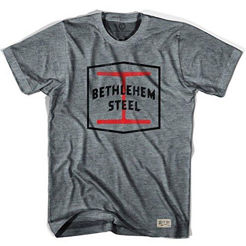 Bethlehem Steel Crest Soccer T-shirt, Athletic Grey, X - Bethlehem Steel