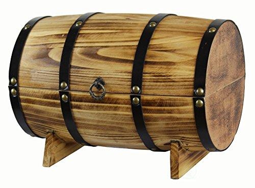 Vintiquewise(TM) Wooden Barrel Treasure Chest