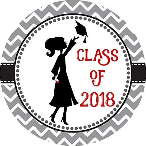 Class of 2018 Graduation Sticker Labels - Graduate Envelope Seal Card and Party Favors - Set of 30