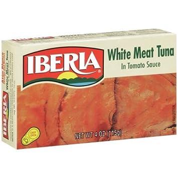 Iberia White Meat Tuna In Tomato Sauce, 4 oz, Atun en Salsa de Tomate