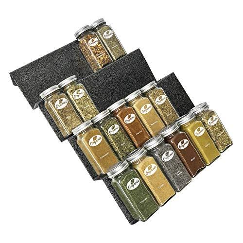 Lynk 430411DS Spice rack tray insert Cabinet Organizer, Ten-Inch Wide, Silver Metallic