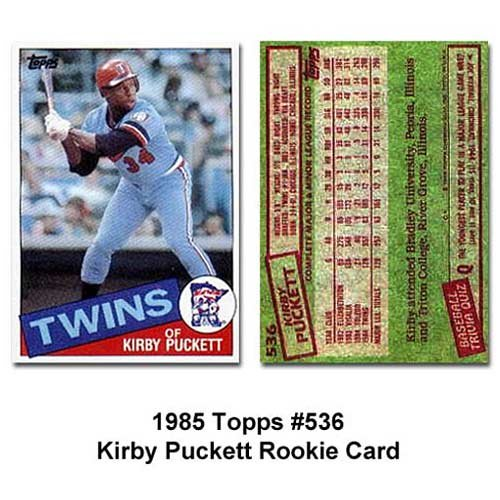Kirby Puckett 1985 Topps Baseball NM/Mint Rookie Card #536 Shipped in Protective Screw Down Holder ()