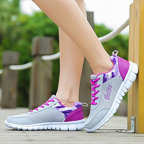 Deportivas Aire 35 Volar Gimnasia Estudiante 959 Logobeing Con Sneakers Zapatillas Calzado Deporte Cojines De 41 Tejidos Net Morado Para Zapatos Running Mujer n64Xw