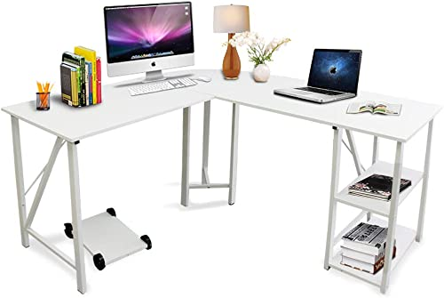 Bizzoelife 59″x55″ Large L-Shaped Corner Computer Desk