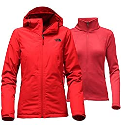 NORTH FACE WOMEN\'S HIGHANDDRY TRICLIMATE JACKET (Medium, HIGH RISK RED)