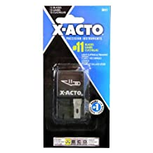 X-Acto No.11 Classic Fine Point Replacement Blade, 15 Blade Dispenser (X411)