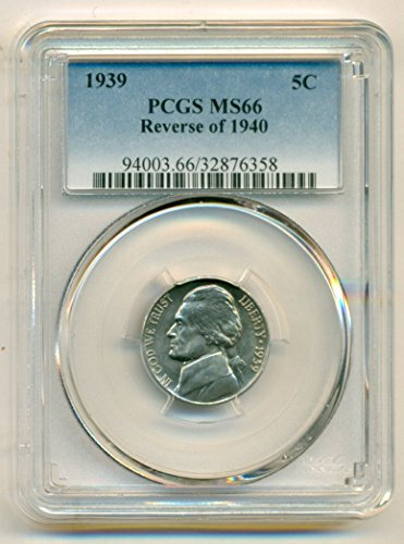 1939 Jefferson Reverse of 1940 Nickel MS66 PCGS