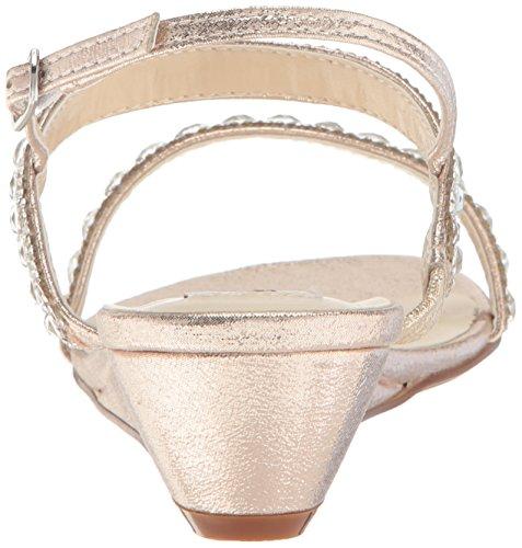Dyeables, Kvinna Inc Womens Jasmin Wedge Sandal Champagne