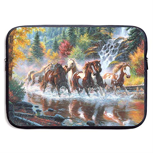 CHJOO Laptop Sleeve Bag Handsome Horses Groups Painting 13/1