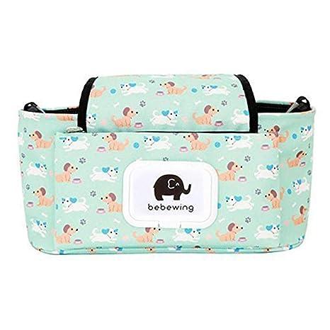Cochecito universal organizador del bolso con portavasos cochecitos de bebé Accesorios Bolsa multifunción bolsa de pañales
