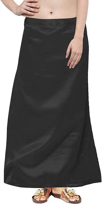 Underskirt Petticoat Saree Satin Readymade Lining Drawstring Skirt Women and Her