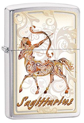 Zippo Sagittarius Outdoor Indoor Windproof Lighter Custom Personalized Engraved Message Permanent Engraving on Backside