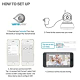 Wansview Wireless IP Camera, WiFi Home Security Surveillance Camera for Baby /Elder/ Pet/Nanny Monitor, Pan/Tilt, Two-Way Audio & Night Vision Q3 (White)