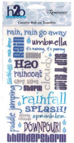 (Rub-On Transfer - H2O Rain 24 pcs sku#)