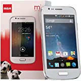 RCA M1 4.0 Unlocked Cell Phone, Dual SIM, 5MP Camera, Android 4.4, 1.3GHz (White)