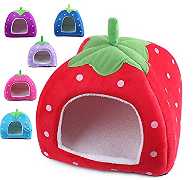 KingWinX Strawberry Design Comfortable collapsible Colorful Dog House