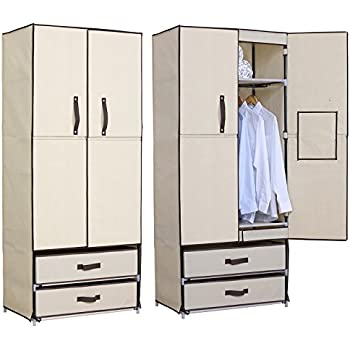 Amazon.com: WOLTU Closet Shelving Clothes Closet Wardrobe Storage ...