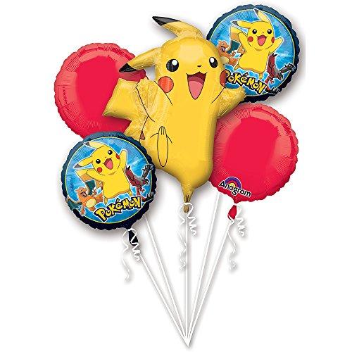Pokemon Pikachu and Friends Birthday  Mylar Balloons