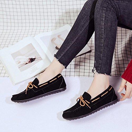 En À Chaussures Plates Pointure Large Femme Automne Mocassins Été Casual Loafers Daim Comfort Flats Noir Slip Overdose Cuir On Enfiler VUMzpqS