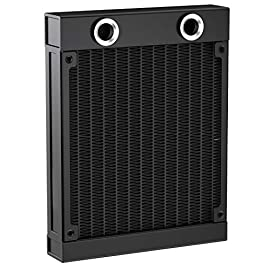 Clyxgs Water Cooling Radiator, G1/4 Thread Heat Row Radiator 12 Pipe Aluminum Heat Exchanger Radiator for PC CPU…