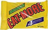 eat-more dark chocolate, toffee peanut chew, 4 bars (208 gram)