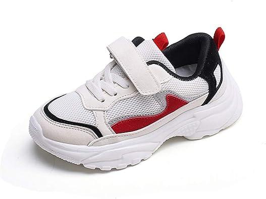 Niños Zapatos Deportivos niñas niños Transpirable Aire Malla Retro Antideslizante Zapatillas de Moda Caminar Zapatos: Amazon.es: Zapatos y complementos